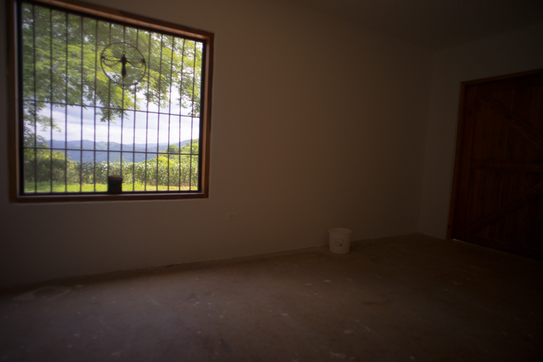 Looking out window of potential bedroom downstairs